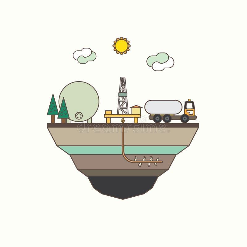 Iłołupka gaz royalty ilustracja