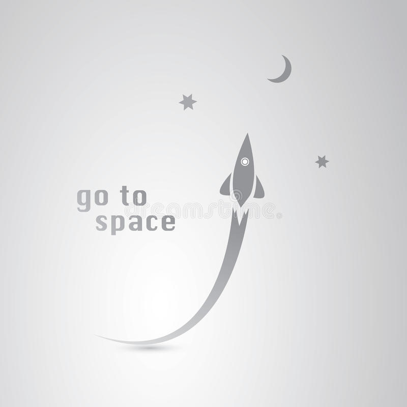 Iść Astronautyczna ikona ilustracja wektor