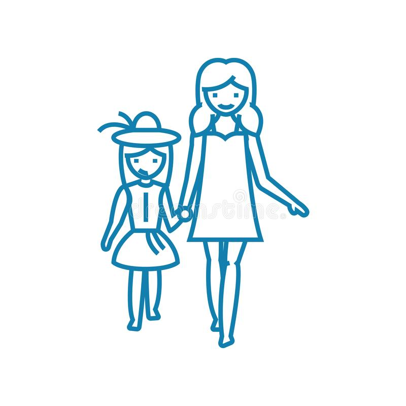 Iść dla wydarzenie ikony liniowego pojęcia Iść dla wydarzenie linii wektoru znaka, symbol, ilustracja ilustracja wektor