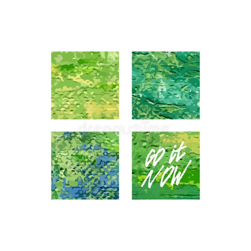 Iść ja teraz kwadratowy akrylowy druk Plakatowy szablon, wektorowy abstrakcjonistyczny projekt ilustracja wektor