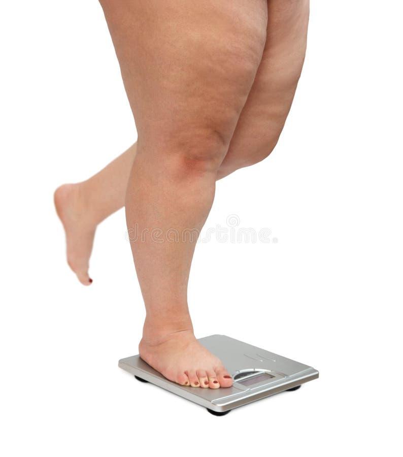 iść na piechotę z nadwagą kobiety fotografia stock