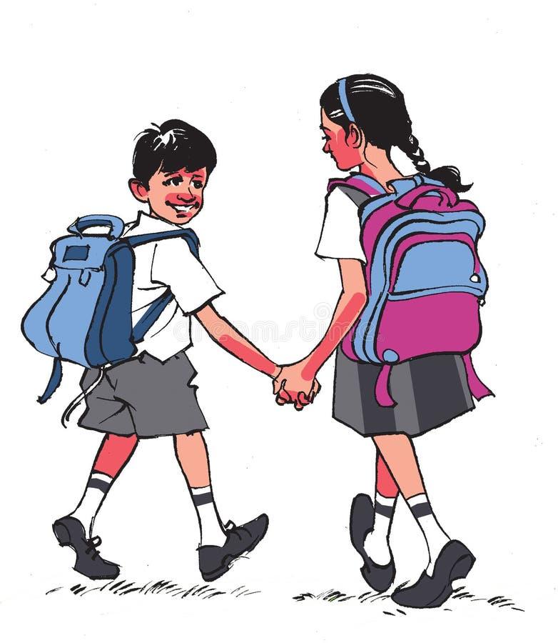 Iść szkoła ilustracja wektor