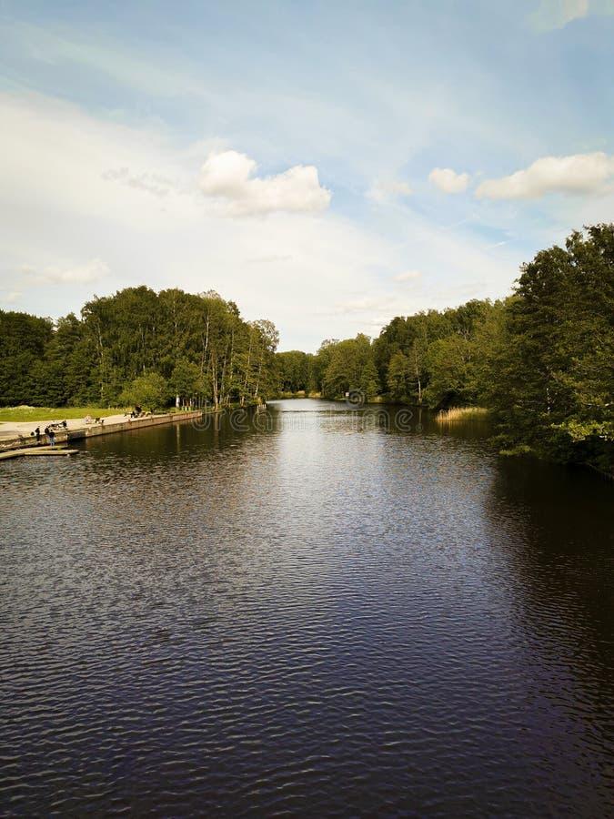 Iść w dół rzeka obrazy royalty free