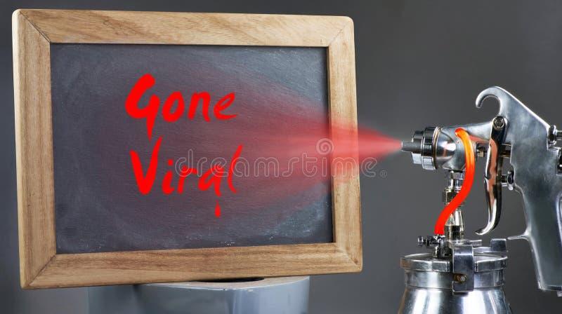 Iść Wirusowy znak zdjęcie stock