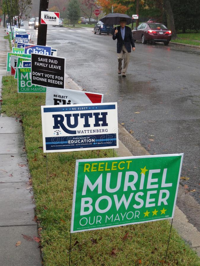 Iść wybory dla połowa semestru wybory w Listopadzie zdjęcie royalty free