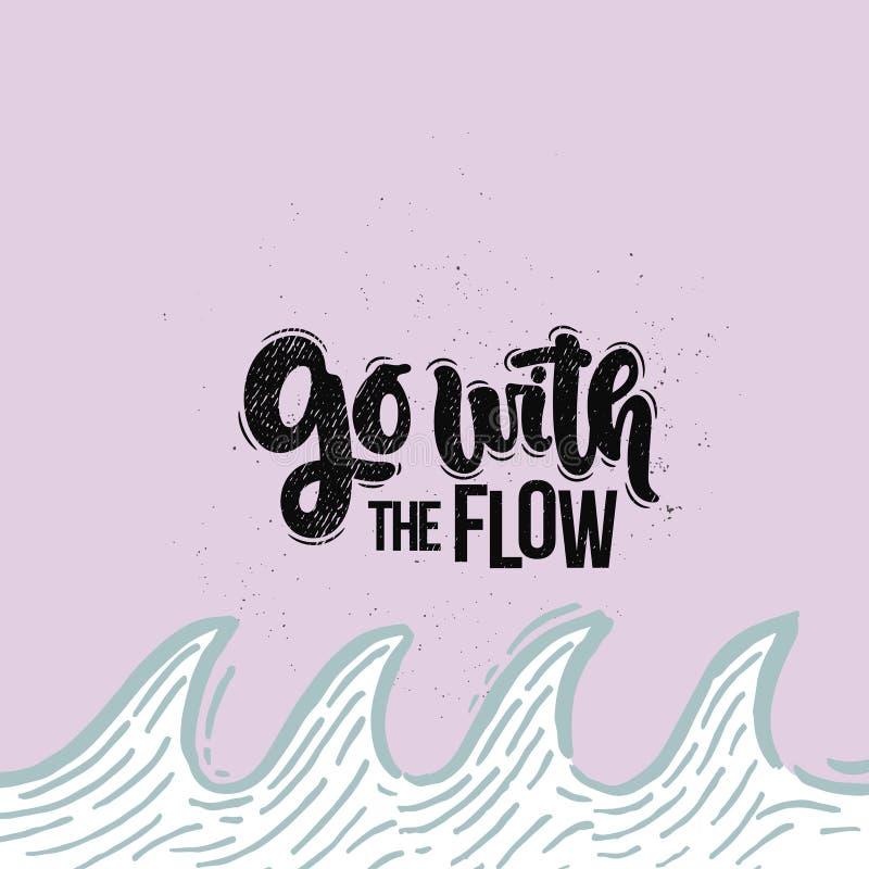 Iść z przepływem ilustracji