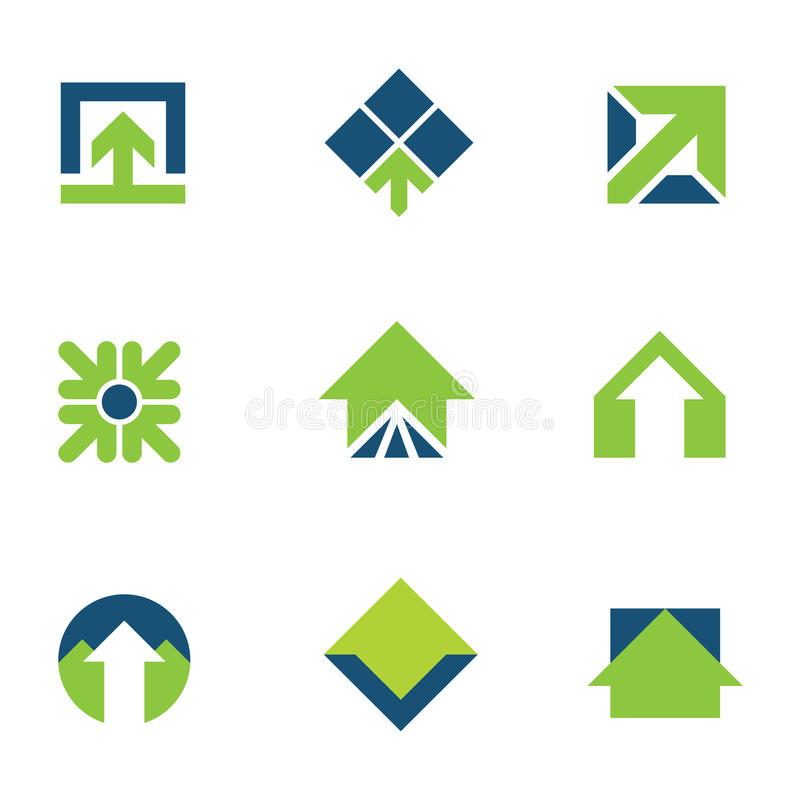 Iść zieleń dla naturalnej biznesowego sukcesu strzała w górę logo ikony ilustracja wektor