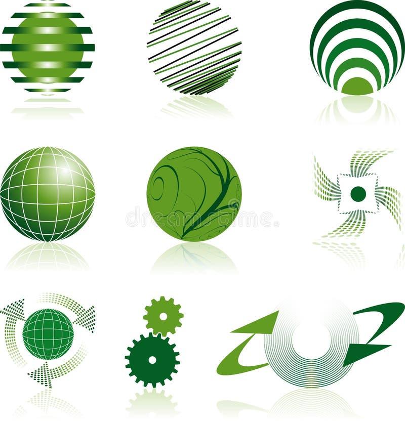 iść zieleni logowie obraz stock