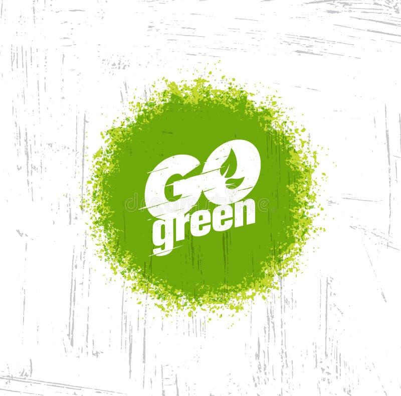Iść Zielony typograficzny i również zwrócić corel ilustracji wektora royalty ilustracja