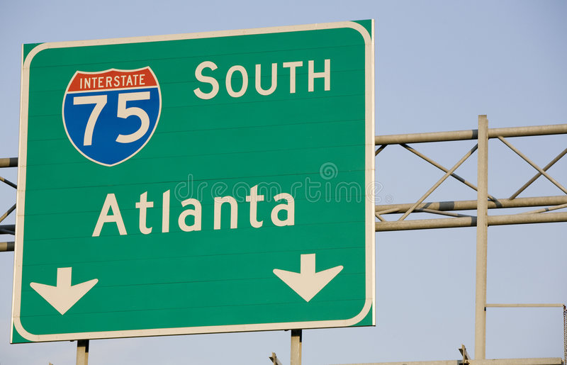 I-75 Atlanta photographie stock