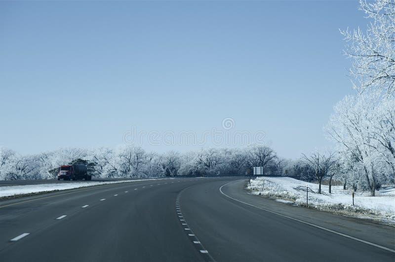 I-80 huvudväg Nebraska arkivbilder