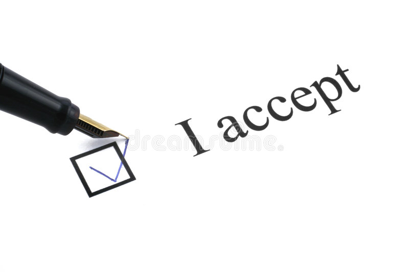 Download I accept stock image. Image of document, choosing, mailing - 2755981
