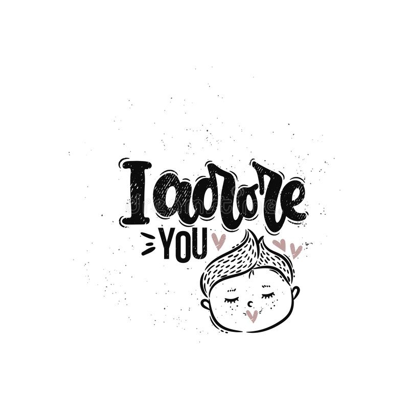 I adore you royalty free illustration
