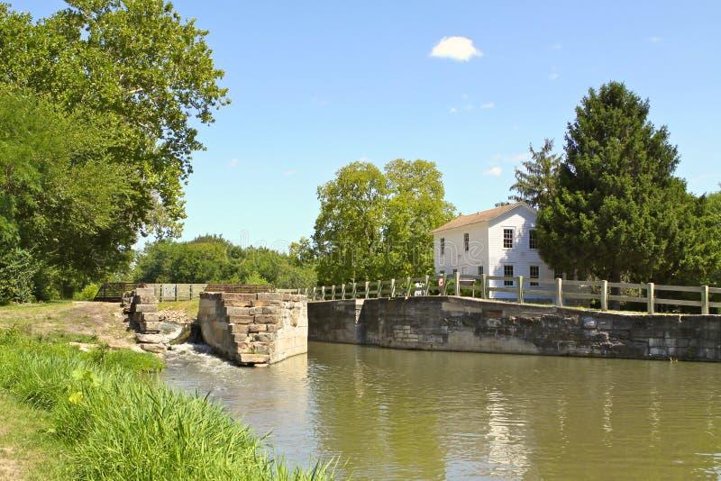 I & canale di m., Illinois, S.U.A. fotografie stock libere da diritti