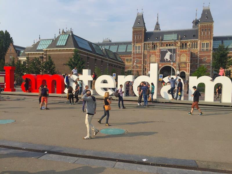 I Amsterdam lizenzfreie stockbilder