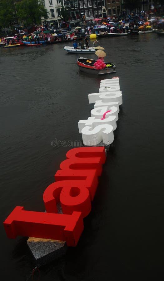 I Amsterdam Boot, homosexueller Stolz 2010 stockfotografie