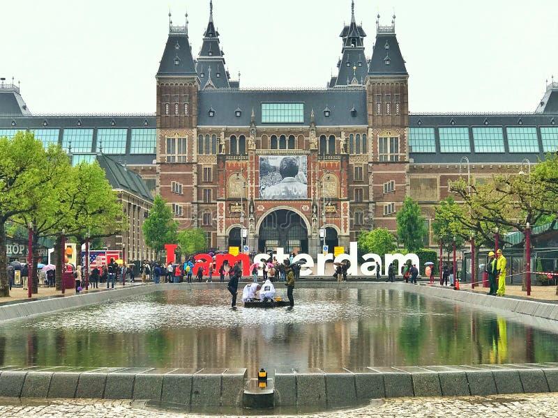 I Amsterdam-Buchstaben lizenzfreie stockfotografie