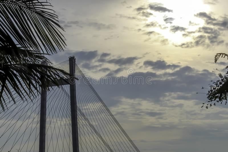 I andra hand Howrah bro - den historiska konsolbron på floden Ganges arkivfoton