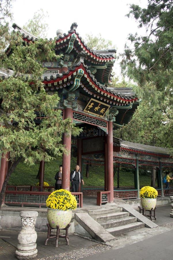I Asien kines, Peking, sommarslotten, paviljong royaltyfria foton