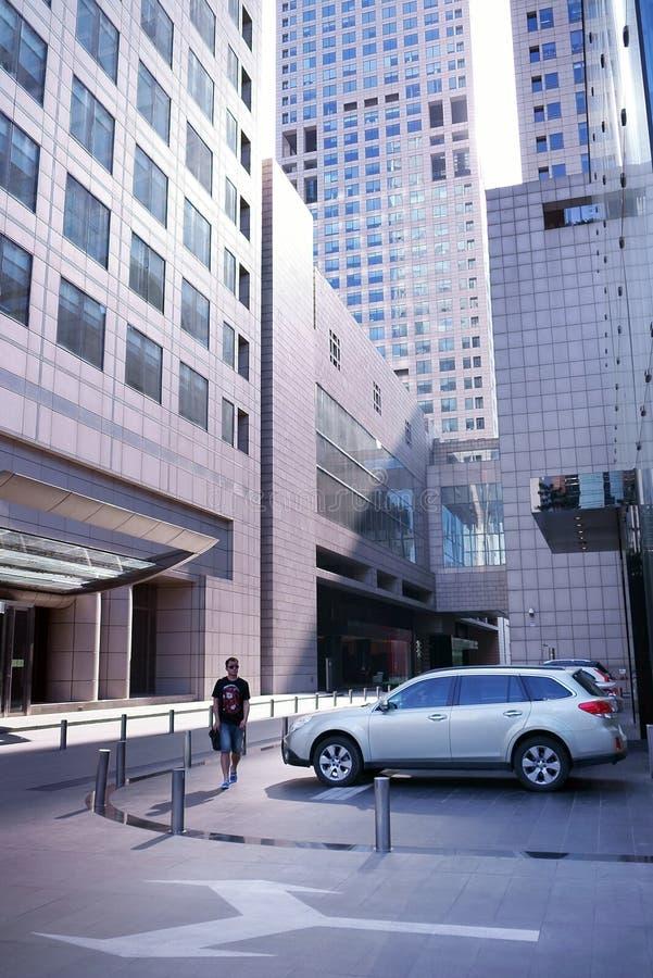 I Asien Peking, Kina, internationell handelmitt, SOHO arkivbilder
