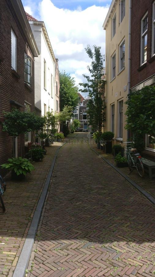 I backstreets della città di Zwolle immagine stock