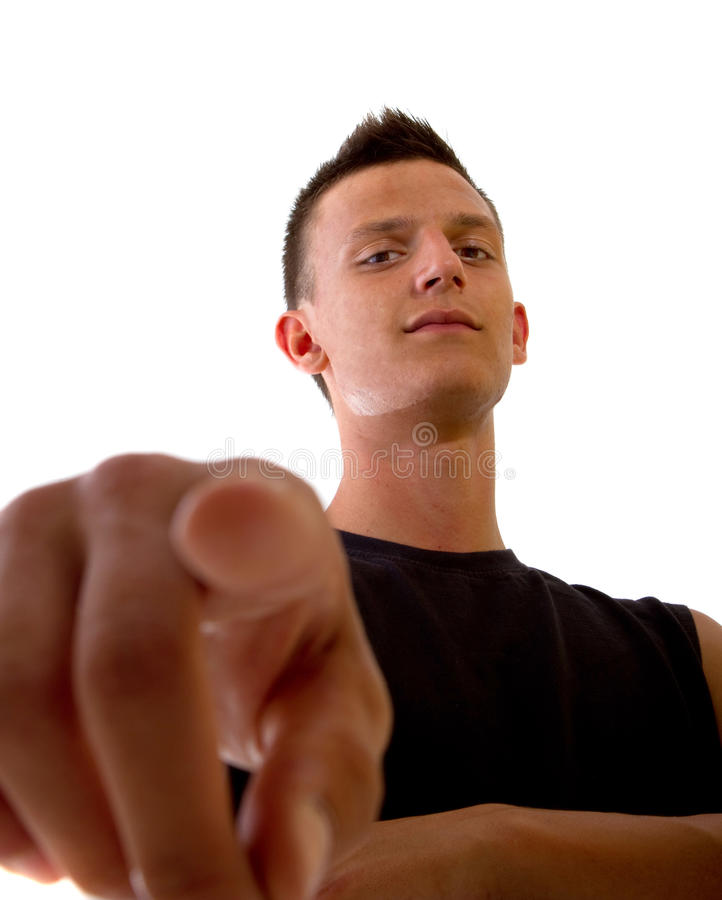 Download I am a bad boy! stock photo. Image of brown, color, angry - 15131950