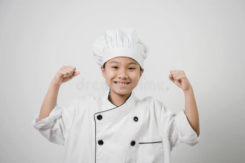 I bambini cuoco unico, stavano stando fotografia stock libera da diritti