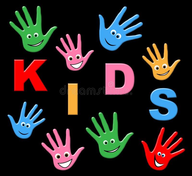 I bambini del gioco rappresenta il tempo libero e la ricreazione royalty illustrazione gratis