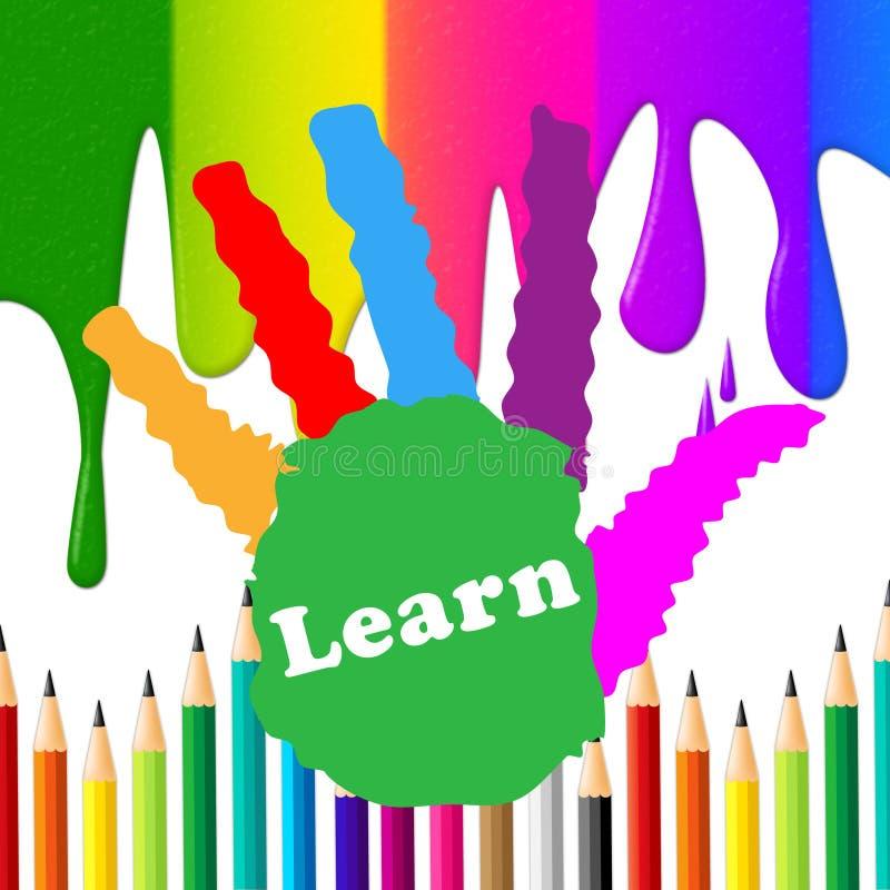 I bambini imparano indica che l'università istruisce e giovanotti illustrazione vettoriale