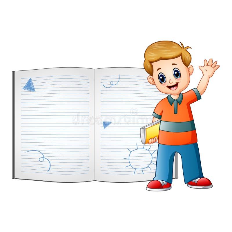 I bambini sono imparano qualcosa sul libro illustrazione vettoriale