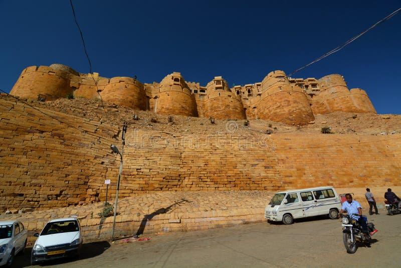 I bastioni Fortificazione di Jaisalmer Il Ragiastan L'India immagine stock libera da diritti