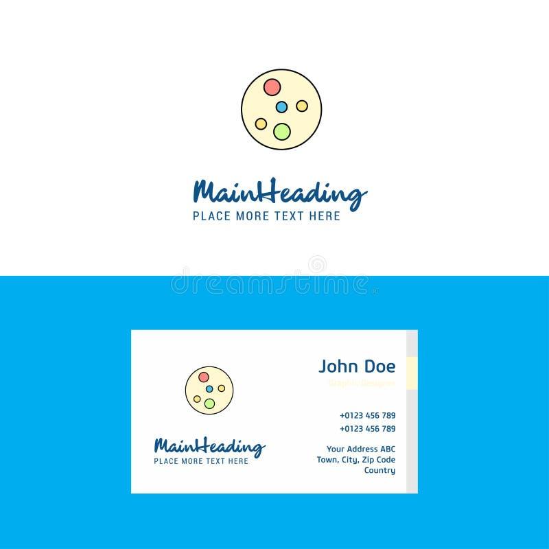 I batteri piani placcano il logo ed il modello del biglietto da visita Concetto Logo Design di Busienss royalty illustrazione gratis