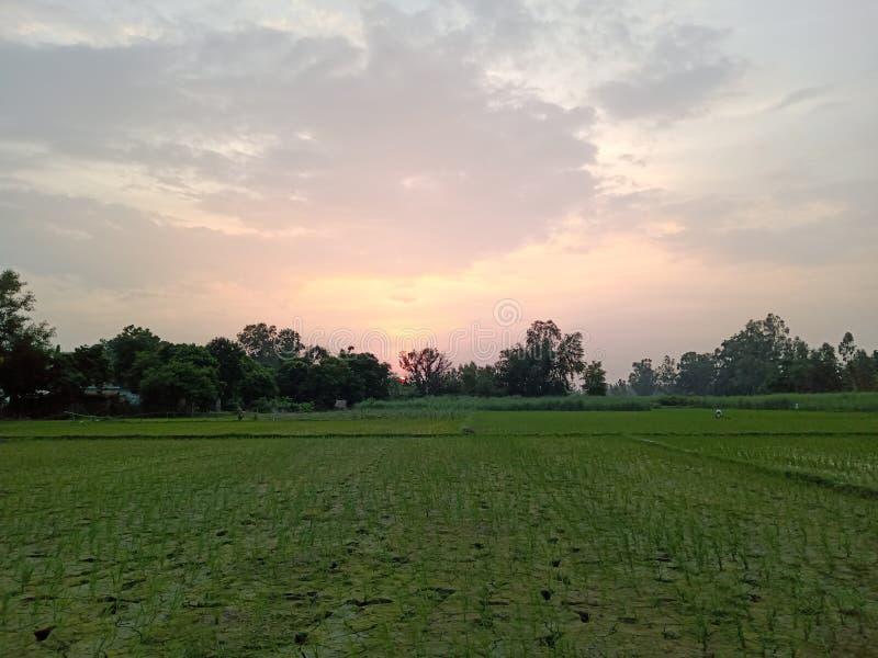 I bei tramonti osservano l'immagine pic dall'India fotografia stock libera da diritti
