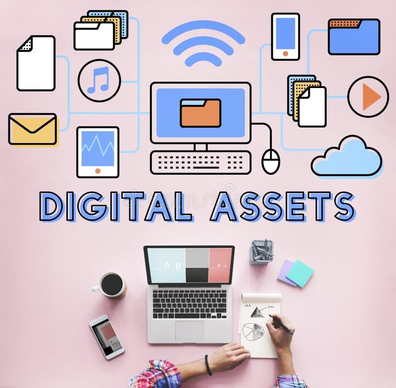 I beni di Digital accessibili sbloccano il concetto di informazioni fotografia stock