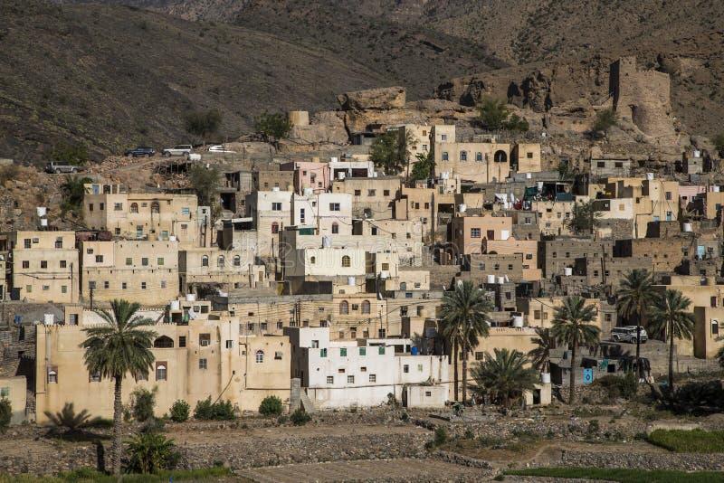 By i berg av Oman royaltyfria foton