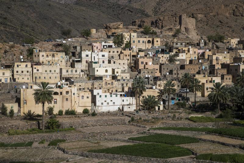 By i berg av Oman royaltyfri fotografi