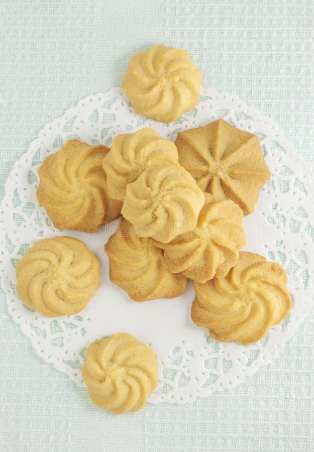 I biscotti di burro fotografia stock