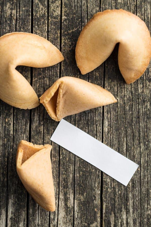 I biscotti di fortuna fotografie stock