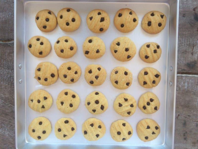 I biscotti sono in vassoi di alluminio immagine stock libera da diritti