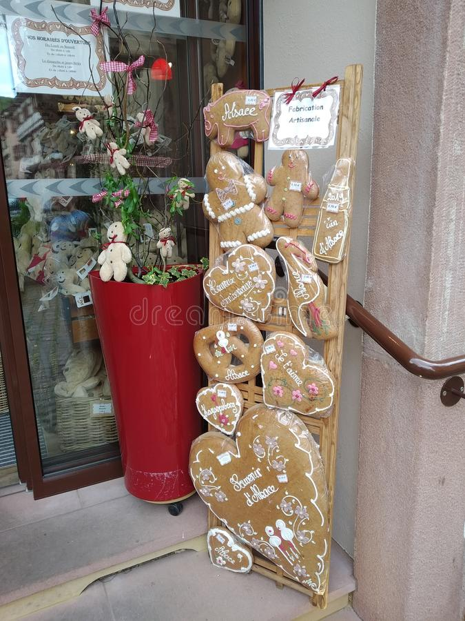 I biscotti tipici da Kaysesberg, Francia immagini stock