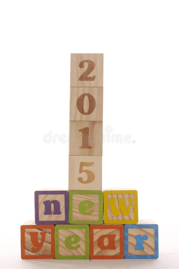 I blocchetti da 2015 nuovi anni fotografia stock