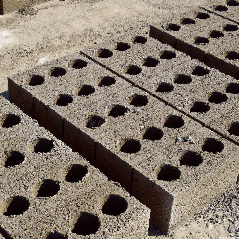 I blocchetti di cenere si trovano sulla terra e si sono asciugati su produzione del blocchetto di cenere fotografie stock