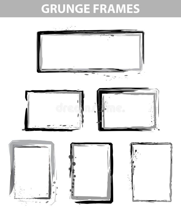 I blocchi per grafici del puntino di Grunge hanno impostato illustrazione vettoriale
