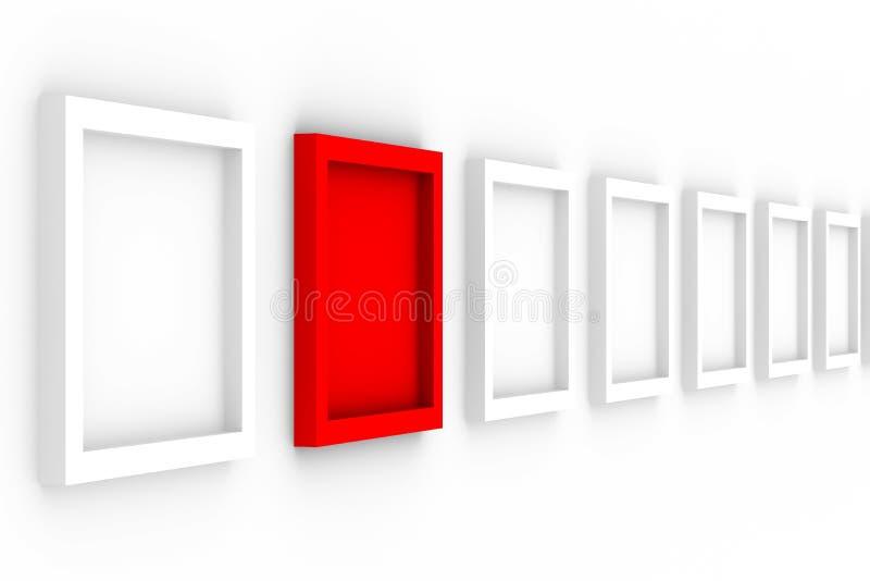 i blocchi per grafici vuoti della priorità bassa remano il bianco illustrazione di stock