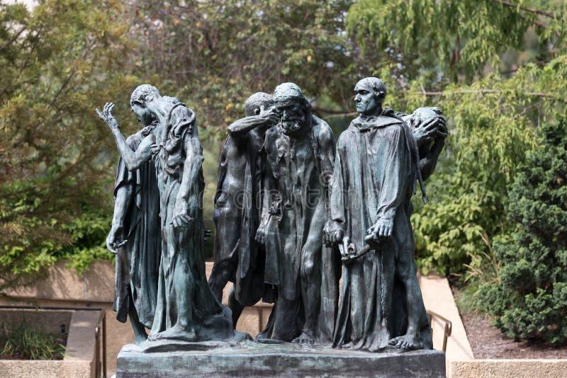 I borghesi di Calais nel museo di Hirshhorn in Washington DC fotografia stock