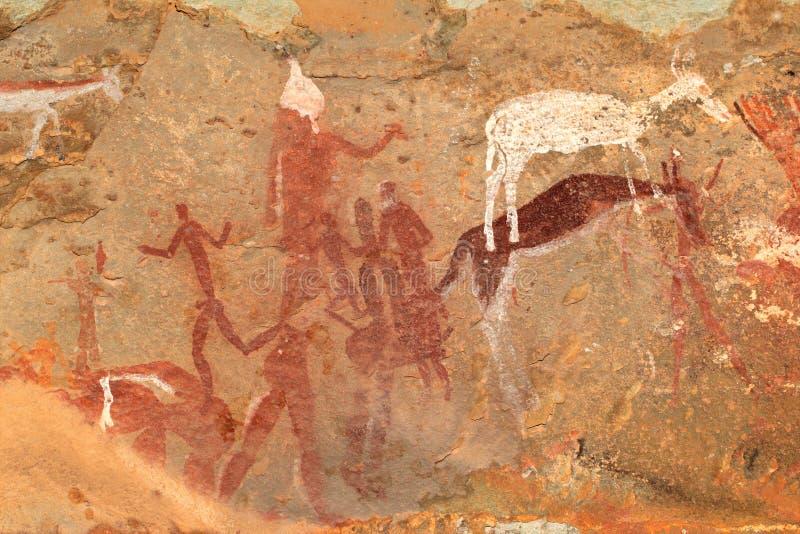 Pittura della roccia dei boscimani royalty illustrazione gratis