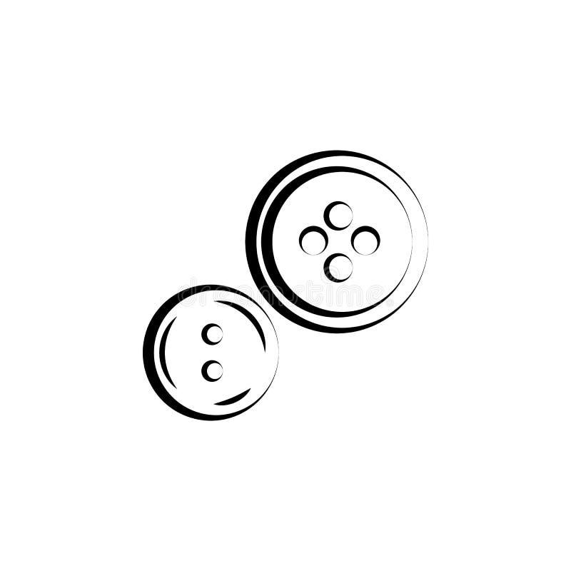 I bottoni, cucono l'icona Elemento dell'icona del mestiere e di arte Linea sottile icona per progettazione del sito Web e svilupp illustrazione di stock