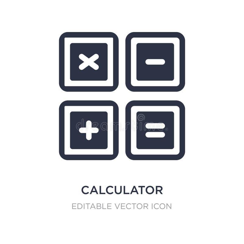 i bottoni del calcolatore collegano l'icona su fondo bianco Illustrazione semplice dell'elemento dal concetto di istruzione illustrazione di stock