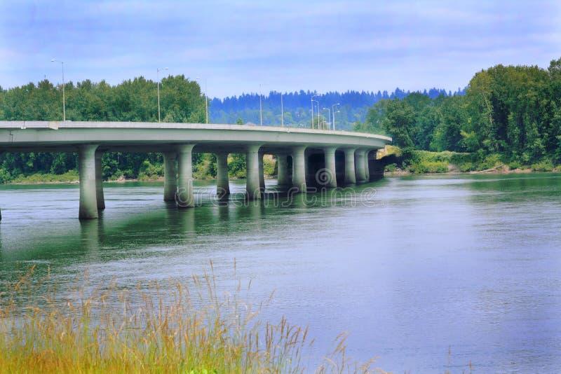 I-205 Bridge to Government Island stock images