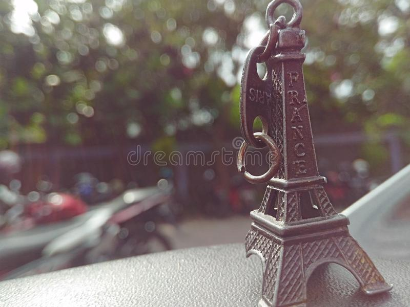 I bring eiffel tower royalty free stock photography